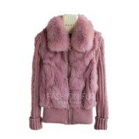 QIUCHEN 2020 Бесплатная доставка Brand New натуральный мех жакет с реальным меховым воротником реального пальто в наличии