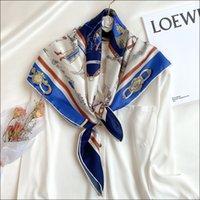 Écharpe satin pour cheveux Foulard Satin Écharpe foulard féminin de soie foulards pour dames à la main cousu bords écharpe 90 chariots impression Foulard