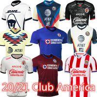 20 21 Club America Soccer Jerseys 2020 2021 Xolos de Tijuana Tigres Unam Guadalajara Chivas Camisa de Futebol Cruz Azul Kit Jersey Football