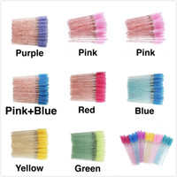 Tyelash Brush pour les sourcils jetables Brosses de sourcils Mascara Wands Applicateur Chambre de curling Grafting Beauty Maquillage Tool 50pcs / sac