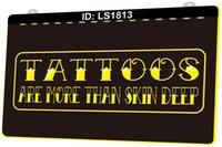 LS1813 Tattoo Piercing-Shop 3D-Gravur-LED-Lichtzeichen Großhandel Einzelhandel