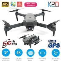 NUEVO DRONE K20 con motor sin escobillas 5G GPS 4K HD Doual Cámara Profesional Quadcopter Foldable 1800M RC Distancia Juguete Juguete Regalo