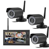 시스템 2.4GHz 무선 IR CCTV 감시 카메라 4CH DVR 7'LCD 모니터 380TVL CMOS 아날로그 시스템 키트