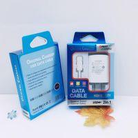 Caixa de papel de presente de exposição de varejo universal com bandeja de plástico blister para iPhone Samsung Huawei 2 em 1 USB Cable Wall Chager Kits