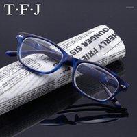 Sonnenbrille Klassische Kunststoff Lesebrille Frauen Männer PC Lightweight Frühling Beine Brillen volle Farbenharzlinse Weibliche Hyperopie Eyewear1