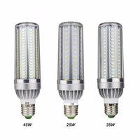 Melhor High Power LED milho luz 25W 35W 50W bulbo de lâmpada 110V E26 / LED E27 Fan alumínio arrefecimento Não Flicker Luz 2835