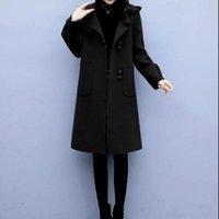 Mulheres casacos casuais mulheres longas exteriores soltas pulôver casaco com bolsos inverno moda Único windbreaker breasted