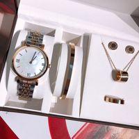 2021 Top Dame Mode High-End Womens Schmuck Uhr Geschenk Frau Armband Ohrring Ringe Halsketten Regalo Klassische Armbanduhren Schmuck Orologio