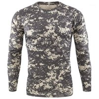 New Outdoor Quick Dry T Shirt Men Tactical Camouflage Long S...
