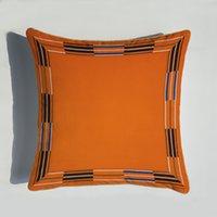 45 * 45 سنتيمتر البرتقال سلسلة وسادة يغطي الخيول الزهور طباعة وسادة القضية غطاء للمنزل كرسي أريكة الديكور سكوير سويتات EEF4857
