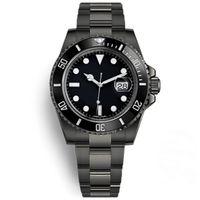 U1 fábrica automática mecânica relógio de pulso safira de vidro cerâmico de cerâmico data aço inoxidável preto preto 40mm 116610ln 116610 mens relógios montre