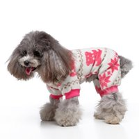 Winter Warm Pajamas Dog Clothes Pet Dog Costume For Dogs Coa...