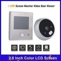 """Système d'interphone vidéo 1.3MP Caméra de porte Péphole 2.8 """"Porte-sonnette de la sonnette de la sonnette de la sonnette de la sécurité résidentielle"""