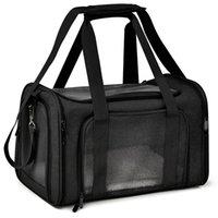 Cat Carrier ظهره رسول تنفس كلب القط حاملات حقيبة سفر شركة طيران وافق على حقيبة النقل للكلاب الصغيرة والقطط LJ201125