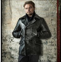Cowhide Leather Man Thicker Shipping.winter Clothing Free Coat.vintage Genuine Jacket,men's Gray Clothes.long Ebbqe