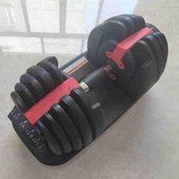 قابل للتعديل الدمبل 2.5-24kg اللياقة البدنية التدريبات الدمبل الأوزان بناء عضلاتك الرياضية اللياقة البدنية معدات الشحن البحري FY7221