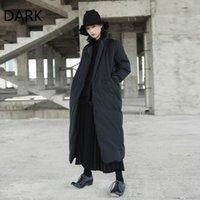 Mulheres para baixo parkas [escuridão] vento escuro no longo-joelho jaqueta acolchoado de algodão solto colarinho para mulheres inverno