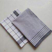 Useber estilo nórdico de algodão tingido de fios listrados guardanapo de cozinha toalha pequena toalha pequena tampa de toalha grandes dimenseiras mas refinados1