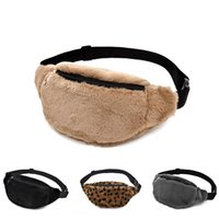 Faux Fur Fanny Pack Women Plush Waist Bag Men Winter Bum Bag...