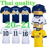 2020 2021 BOCA Juniors Soccer Jersey Home Away 20 21 الثالث الأصفر Tevez Maradona Moura Abila Reynoso de Rossi JRS Jerseys Shirts