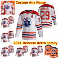 Edmonton Oilers 2021 عكس الرجعية الهوكي جيرسي 39 أليكس تشياسون ماركوس جرانلوند توماس جوركو ريان نجل هوبكنز جيمس نيل مخصص مخيط
