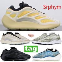 La mejor calidad Srphym 700 v3 brillan en la oscuridad de los hombres zapatos de las mujeres Azarath Alvah Azael reflexivo zapatillas de deporte esqueleto zapatillas deportivas