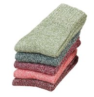 women wool knit warm socks girls lady Casual floor sock thick yarn line stocking vintage national style socks christmas gift