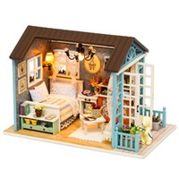 CuteBee دمية منزل مصغرة diy دمية مع اثاث المنزل خشبي كاسا لعب للأطفال هدية عيد LJ200916