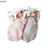 ميلانسل بطانيات مغلف للأطفال حديثي الولادة يغطي الأرنب الأذن التقميط التفاف التصوير الفوتوغرافي الوليد طفلة ملابس 201022