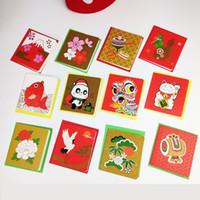 Tarjeta de felicitación de Navidad Tarjeta de regalo Año Nuevo Decoraciones de Navidad coloridas DIY DIY Día de Acción de Gracias Bendición Pequeño traje Tarjeta de papel VT1895
