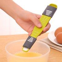 المنزلية مزدوجة الرأس قياس ملعقة البلاستيك قابل للتعديل الخبز مقياس ملاعق كمية أدوات المطبخ الساخن بيع 2 1YD J2