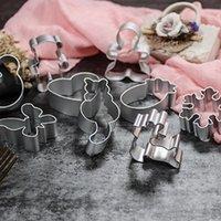 Multi Style biscotto muffa DIY del cuore della stella taglierina cottura Stampi in lega di alluminio Cookie Cutters Plunger pasticceria Stencil IIA797