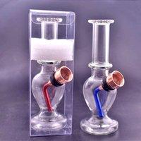 mini vetro portatile bong Tubi di acqua di vetro Bubblers fumo di tabacco Tubo piccola mano Tubo di tabacco a erba secca con ciotola di metallo