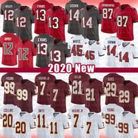 Dwayne Haskins 21 Sean Taylor 99 Chase Genç Futbol Jersey 12 Tom Brady Mike Evans 87 Rob Gronkowski Chris Godwin Devin Beyaz Chris Godwin