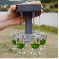 6 Scattare il distributore di vetro Portatore portatore Caddy Liquor Dispenser Party Bevande Bere Games Bar Cocktail Vino Strumento di riempimento rapido VTKY2219