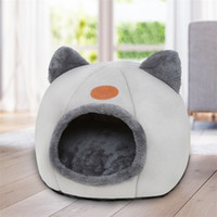 Nette Katze Kopf geformt Kennel Katze Nest Weiche Plüsch Hund Bett Kleines Hund Warme Fleece Haus Haustier Winter Schlafmatte Sofa Zubehör LJ200918
