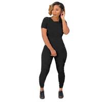 Kadınlar İki Adet Kıyafetler Kadın Eşofman Kırpma Üst + Pantolon 2 Parça Set Panelli Renkler Kıyafetler Rahat Sweatsuits Koşu Jogger Sportwear
