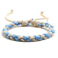 Farben Webart Braid Armband Einfache Schnur Verstellbare Armbänder Frauen Herren Armreif Manschette Modeschmuck Will und Sandy Geschenk