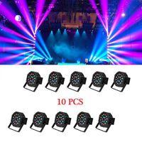 Лучший продавец 30 Вт 18-RGB LED Авто / Голосовое управление DMX512 Движущаяся головка Высокая яркости Мини Высококачественная сценическая лампа (AC 110-240V) Black * 10