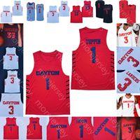 Personalizado Dayton Panfletos Jersey College OBI Toppin Ryan Mikesell Rodney Chatney Jalen Crutcher Trey Landers Ibi Watson Weaver Johnson