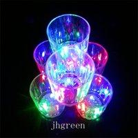 Kolorowe Kubek LED Flashing Shot LED Plastikowe Okulary Luminous Neon Puchar Urodziny Party Night Bar Wedding Beverage Wino Flash Mały Kubek