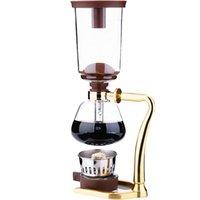 흡입 커피 기계 식품 등급 붕규산 유리 3 명이 봉사하는 스테인레스 스틸 손잡이 35x9.1x13.5cm