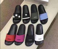 Paris Moda Tasarım Kadın Erkek Sandal Dişli Dipleri Erkek Çizgili Sandalet Rahat Kaymaz Yaz Terlik Kadın Terlik Kutusu Ile En İyi Kalite