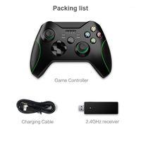 تحكم اللعبة المقود بيانات ضفدع البيانات 2.4G جهاز التحكم اللاسلكي جويستيك ل Xbox One PS3 / Android الهاتف الذكي Gamepad PC Win 7/8/101