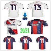 2020 новый FC Crotone Футбол Футбол для футболки Benali Dragus Luperto Djidji Magallan Petriccione Eduardo Custom 20 21 Home Away Футбольная рубашка Униформа