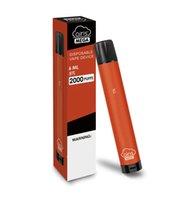 Оригинальный Airis Mega одноразовый POD-устройство 2000 слойки 1050 мАч 6 мл предварительно заполненная портативная портативная ручка Vape Pick Pen Plus Plush Bang XXL горячая 100% подлинный