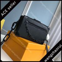 5A Top Qualität Mini Weiche Kofferische Männer Kreuz Körpertaschen Herren Umhängetasche Echtes Leder Messenger Bags Mode Sling Tasche mit Box B010