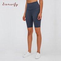 NEPOAGYMY Effectuer une taille élevée Short de yoga Matériau brossé Femmes Cyclisme Vélo Super Soft Soft Compression extensible KG-312