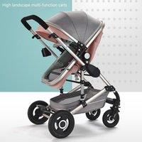 Cochecito de bebé Lightweight High Landscape Carro 3 IN1 para el carro plegable recién nacido puede sentarse y mentir a los niños Buggy for Kids1