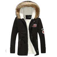 Yuwaijiatren Hiver Parka Coat Mode Coton Épaississement Chaud Couleur Pure Couleur Slim Casual Casual Capuche Vestes et manteaux